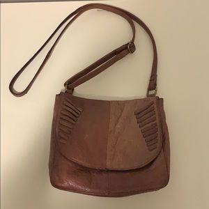 Leather crossbody purse brown authentic